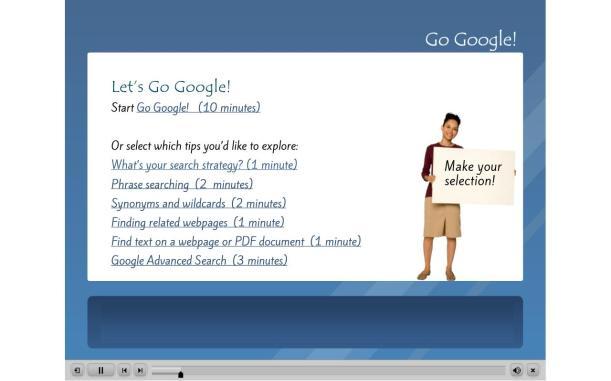 Go Google! menu